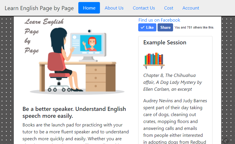 Screenshot of Learn Page by Page, learnpagebypage.com